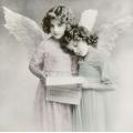 """Салфетка для декупажа SVD2080 """"Ангелы с нотами"""", 33х33 см, Sagen Vintage Design, Норвегия"""