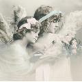 """Салфетка для декупажа SVD2083 """"Ангелы с цветами"""", 33х33 см, Sagen Vintage Design, Норвегия"""