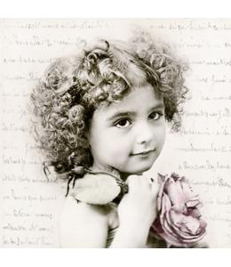 """Салфетка для декупажа SVD2084 """"Маленькая француженка"""", 33х33 см, Sagen Vintage Design, Норвегия"""
