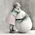 """Салфетка для декупажа SVD2086 """"Пасхальная девочка"""", 33х33 см, Sagen Vintage Design, Норвегия"""