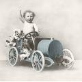 """Салфетка для декупажа SVD2087 """"Мальчик на машинке"""", 33х33 см, Sagen Vintage Design, Норвегия"""