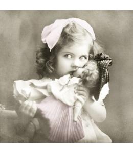 """Салфетка для декупажа SVD80009 """"Девочка с куклой"""", 33х33 см, Sagen Vintage Design, Норвегия"""