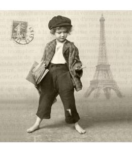"""Салфетка для декупажа SVD80010 """"Мальчик с газетами"""", 33х33 см, Sagen Vintage Design, Норвегия"""