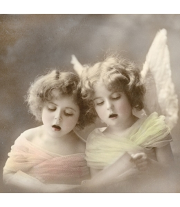 """Салфетка для декупажа SVD80025 """"Поющие ангелочки"""", 33х33 см, Sagen Vintage Design, Норвегия"""