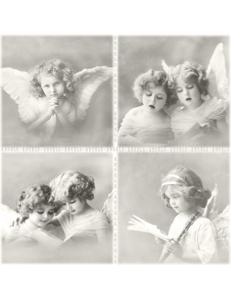 "Салфетка для декупажа SVD80026 ""Ангелочки"", 33х33 см, Sagen Vintage Design, Норвегия"