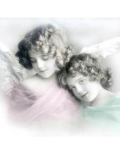 "Салфетка для декупажа SVD80028 ""Два ангела"", 33х33 см, Sagen Vintage Design, Норвегия"
