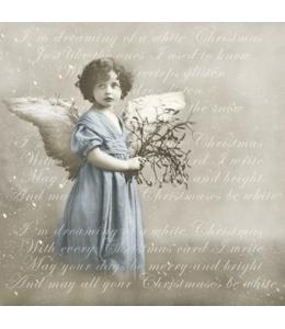 """Салфетка для декупажа SVD80040 """"Ангел в голубом"""", 33х33 см, Sagen Vintage Design, Норвегия"""