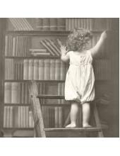 """Салфетка для декупажа SVD80044 """"Мальчик в библиотеке"""", 33х33 см, Sagen Vintage Design, Норвегия"""