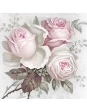 """Салфетка для декупажа SVD80046 """"Розы, букет"""", 33х33 см, Sagen Vintage Design, Норвегия"""