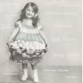 """Салфетка для декупажа SVD80048 """"Девочка с пасхальной корзиной"""", 33х33 см, Sagen Vintage Design, Норвегия"""