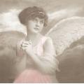 "Салфетка для декупажа SVD80050 ""Молитва ангела"", 33х33 см, Sagen Vintage Design, Норвегия"
