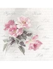 """Салфетка для декупажа SVD80051 """"Дикая роза"""", 33х33 см, Sagen Vintage Design, Норвегия"""