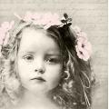 """Салфетка для декупажа SVD80054 """"Девочка с венком"""", 33х33 см, Sagen Vintage Design, Норвегия"""