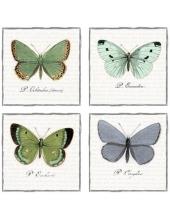 """Салфетка для декупажа SVD80056 """"Большие бабочки"""", 33х33 см, Sagen Vintage Design, Норвегия"""