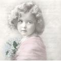 """Салфетка для декупажа SVD80058 """"Девочка с ландышами"""", 33х33 см, Sagen Vintage Design, Норвегия"""