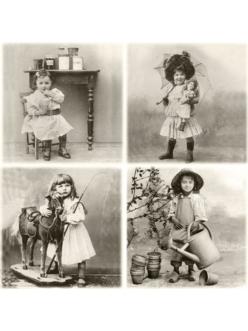 Салфетка для декупажа Маленькие дети, 33х33 см, Sagen Vintage Design, Норвегия