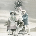 """Салфетка для декупажа SVD80067 """"Дети и ёлка"""", 33х33 см, Sagen Vintage Design, Норвегия"""