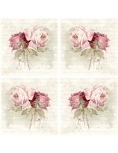 """Салфетка для декупажа SVD80073 """"Букет из винтажных роз"""", 33х33 см, Sagen Vintage Design, Норвегия"""