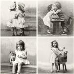 """Салфетка для декупажа SVD80074 """"Счастливые дети"""", 33х33 см, Sagen Vintage Design, Норвегия"""
