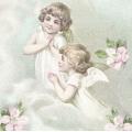 "Салфетка для декупажа SVD80076 ""Ангелочки на облаке"", 33х33 см, Sagen Vintage Design, Норвегия"