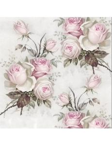 """Салфетка для декупажа SVD2058 """"Розы, букетики"""", 33х33 см, Sagen Vintage Design, Норвегия"""