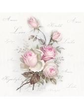 """Салфетка для декупажа SVD80015 """"Любимые розы"""", 33х33 см, Sagen Vintage Design, Норвегия"""