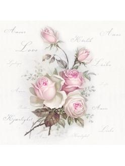 Салфетка для декупажа Любимые розы, 33х33 см, Sagen Vintage Design, Норвегия