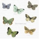 "Салфетка для декупажа SVD86008 ""Бабочки"", 25х25 см, Sagen Vintage Design, Норвегия"