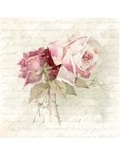 """Салфетка для декупажа SVD86009 """"Прекрасная роза"""", 25х25 см, Sagen Vintage Design, Норвегия"""