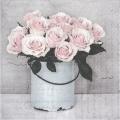 """Салфетка для декупажа SVD80000 """"Ведерко с розами"""", 33х33 см, Sagen Vintage Design, Норвегия"""