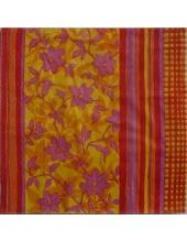 """Салфетка для декупажа, S1004, """"Красно-желтый цветочный орнамент"""", 33х33 см, Германия"""