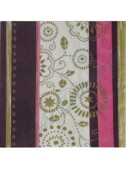 """Салфетка для декупажа, S1011, """"Цветочный орнамент"""", 33х33 см"""