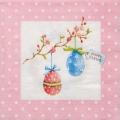 """Салфетка для декупажа M74061 """"Пасхальные яйца"""" розовый, 33х33 см, Австрия"""