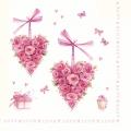 """Салфетка для декупажа M74075 """"Сердце из цветов"""", 33х33 см, Австрия"""