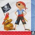 """Салфетка для декупажа, S0139, """"Пират"""", 33х33 см"""