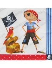 """Салфетка для декупажа S0139 """"Пират"""", 33х33 см"""