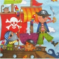 "Салфетка для декупажа ""Пираты"", 33х33 см, Германия"