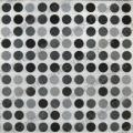Салфетка для декупажа, S1075, Точки, чёрный и серый, 33х33 см, Германия