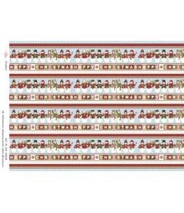 """Рисовая бумага R-A3-0208 """"Рождество, бордюры"""", формат А3, ProArt (Россия)"""
