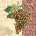 """Салфетка для декупажа CLOG004902 """"Виноград"""", 25х25 см, POL-MAK"""