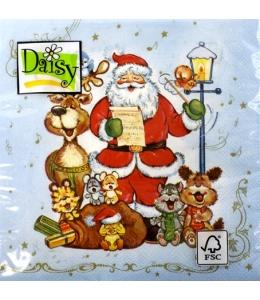 """Салфетка для декупажа SLGW002802 """"Рождественские гимны"""", 33х33 см"""