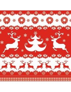 """Салфетка для декупажа SDGW004001 """"Рождественские бордюры"""", 33х33 см, POL-MAK"""