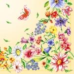 """Салфетка для декупажа SDOG002403 """"Полевые цветы"""", 33х33 см"""