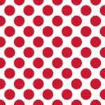 """Салфетка для декупажа SDOG003501 """"Крупный красный горох на белом"""", 33х33 см, Германия"""