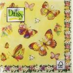 """Салфетка для декупажа SDOG003701 """"Бабочки и розы"""", 33х33 см, Германия"""