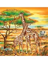 "Салфетка для декупажа SDOG006001 ""Африка, жирафы"", 33х33 см, Германия"