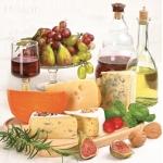 """Салфетка для декупажа SDOG007301 """"Сыры и вино"""", 33х33 см, POL-MAK"""