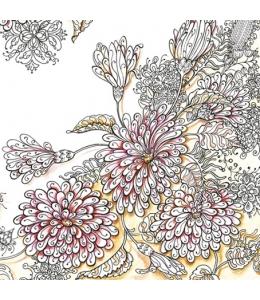 "Салфетка для декупажа SDOG009901 ""Цветы"", 33х33 см"
