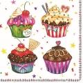 """Салфетка для декупажа SDOG012001 """"Праздничные кексы"""", 33х33 см, POL-MAK"""