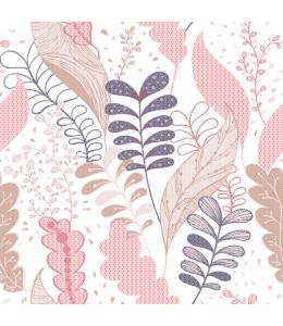"""Салфетка для декупажа SDOG013201 """"Розовые листья"""", 33х33 см, POL-MAK"""